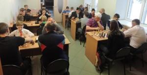 Шахматисты на пьедестале почета